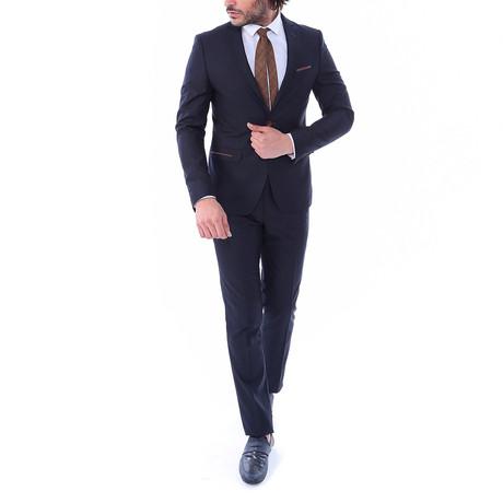 Harley 2-Piece Slim-Fit Suit // Navy (US: 34R)