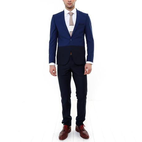 Wilmer 2-Piece Slim-Fit Suit // Navy (US: 34R)