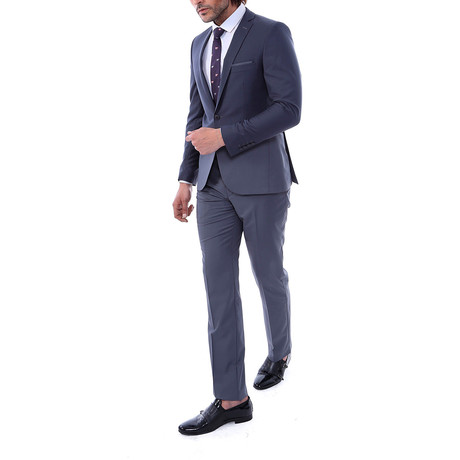 Wilmer 2-Piece Slim-Fit Suit // Smoke (US: 34R)