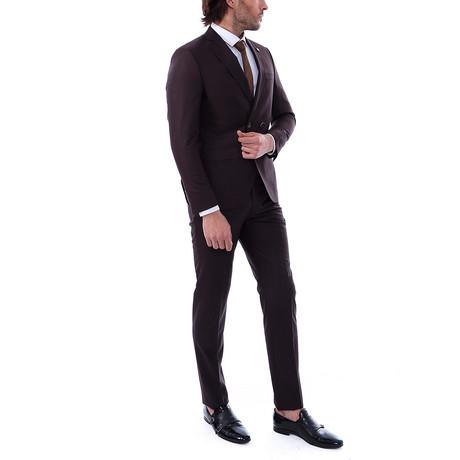 Arnold 2-Piece Slim-Fit Suit // Brown (US: 34R)