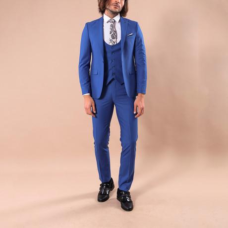 Leonard 3-Piece Slim-Fit Suit // Blue (US: 34R)