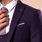 Leonard 3-Piece Slim-Fit Suit // Purple (Euro: 44)