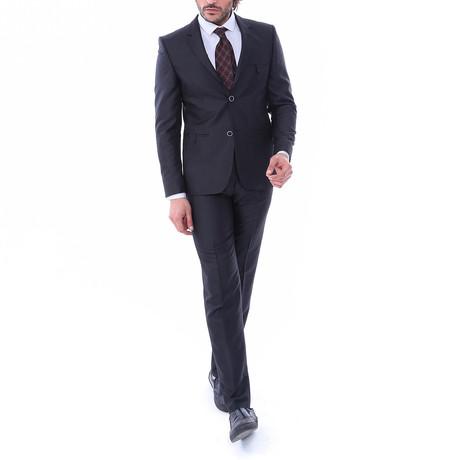 Antonio 2-Piece Slim-Fit Suit // Black (Euro: 44)