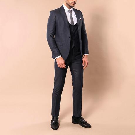 Rodrick 3-Piece Slim-Fit Suit // Smoked (US: 34R)
