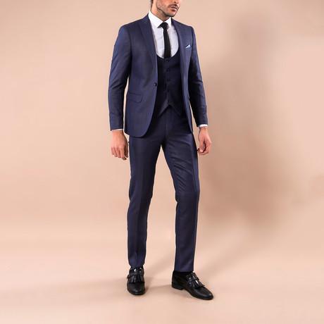 Graham 3-Piece Slim-Fit Suit // Navy (US: 34R)