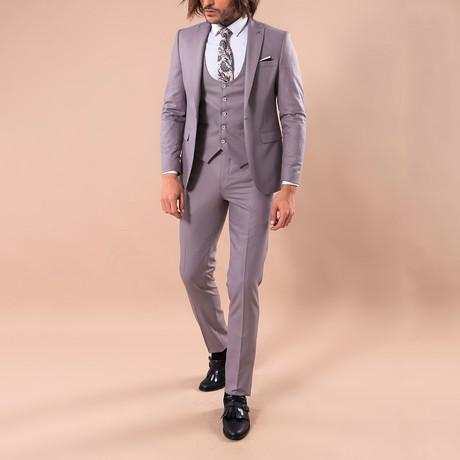 Graham 3-Piece Slim-Fit Suit // Mink (US: 34R)