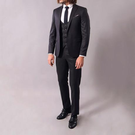 Todd 3-Piece Slim-Fit Suit // Black (US: 34R)