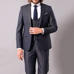 Geoffrey 3-Piece Slim-Fit Suit // Smoke (Euro: 52)