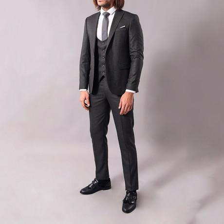 Damion 3-Piece Slim-Fit Suit // Smoked (US: 34R)
