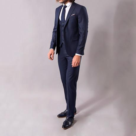 Monty 3-Piece Slim-Fit Suit // Navy (US: 34R)