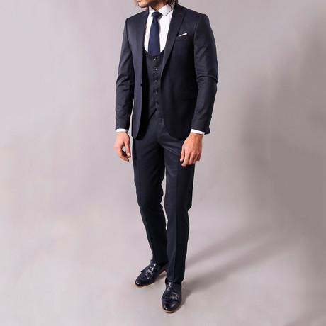 Louie 3-Piece Slim-Fit Suit // Navy (US: 34R)