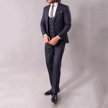 Stewart 3-Piece Slim-Fit Suit // Navy (US: 34R)