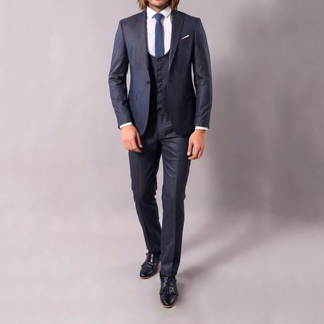 Clemente 3-Piece Slim-Fit Suit // Navy (US: 34R)