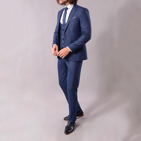 Geoffrey 3-Piece Slim-Fit Suit // Navy (US: 34R)