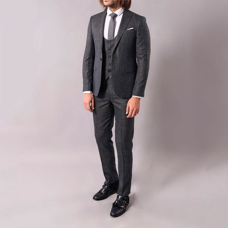 JC 3-Piece Slim-Fit Suit // Smoke (Euro: 44)