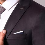 JC 3-Piece Slim-Fit Suit // Charcoal + Burgundy Buttons (Euro: 48)
