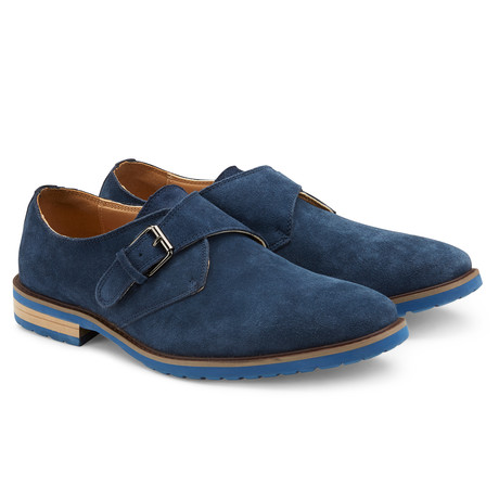 The Stanton Monk Strap // Navy (US: 7.5)