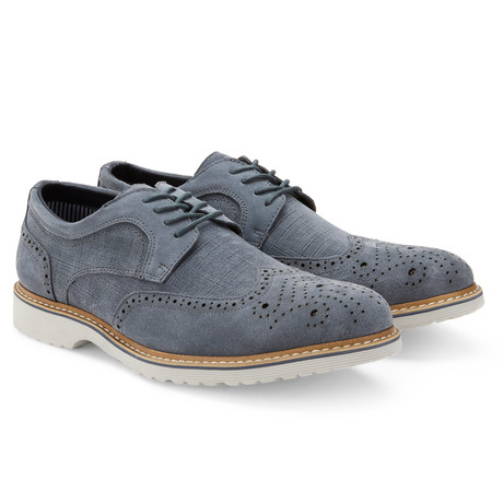 The Grange Wingtip Derby // Blue (US: 7.5)