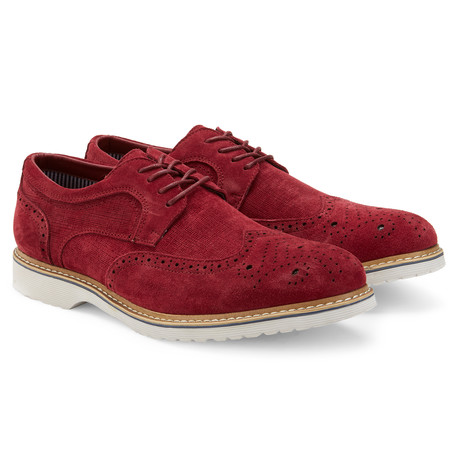 The Grange Wingtip Derby // Burgundy (US: 7.5)