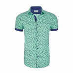 Royal Short Sleeve Casual Button Down Shirt // Mint (M)