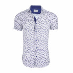 Lucien Short Sleeve Casual Button Down Shirt // White (M)