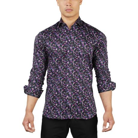 Fibonacci Dancing Dress Shirt // Black (S)