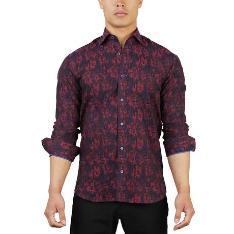 Fibonacci Camouflage Dress Shirt // Red (S)