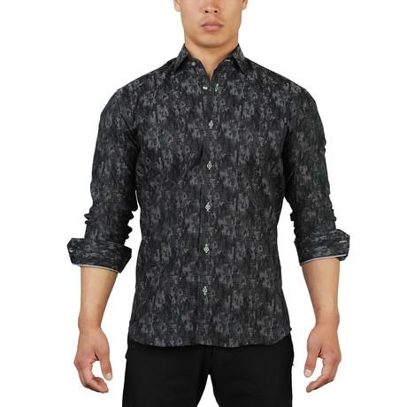 Fibonacci Camouflage Dress Shirt // Gray (S)