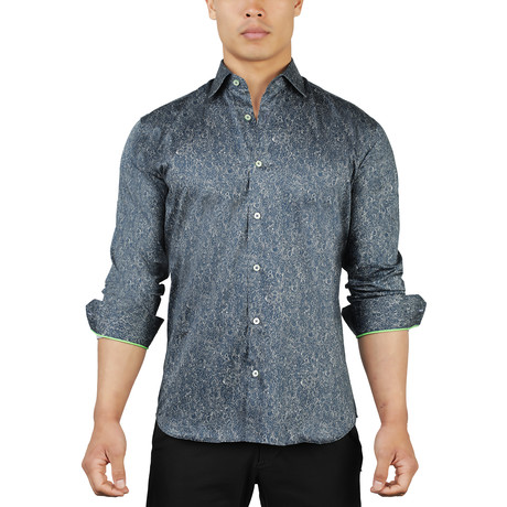 Fibonacci Sequence Dress Shirt // Blue (S)
