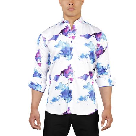 Fibonacci Continent Dress Shirt // White (S)