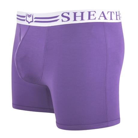 SHEATH 4.0 // Dual Pouch Boxer Brief // Purple (S)
