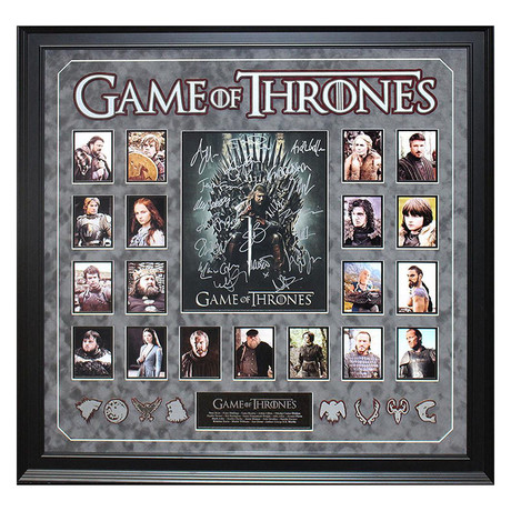 Signed + Framed Collage // Game of Thrones