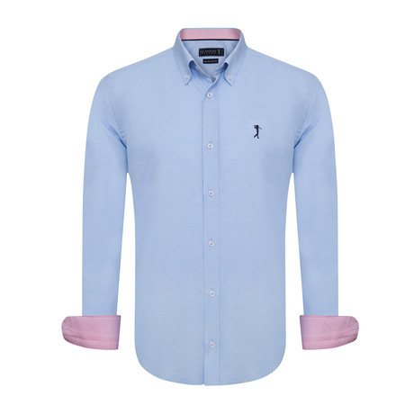 Handed Shirt // Blue (XS)