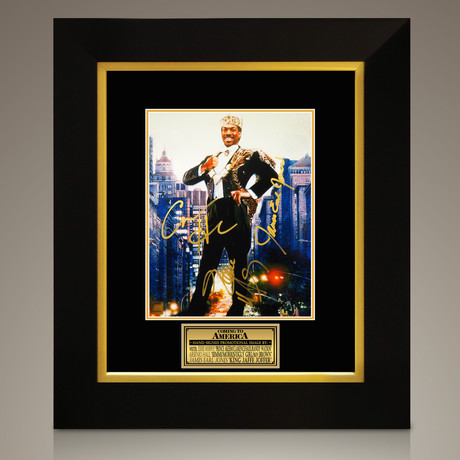 Coming To America // Eddie Murphy + Arsenio Hall + James Earl Jones Hand-Signed // Custom Frame (Signed Photo Only + Custom Frame)