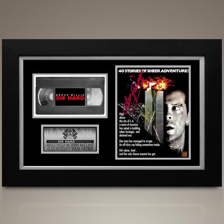 Die Hard // Bruce Willis + Alan Rickman Hand-Signed // Custom Frame (Signed Photo Only + Custom Frame)