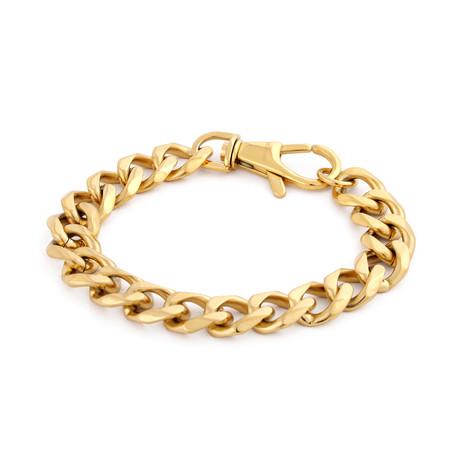 Militium Chain Link Bracelet // Gold (17cm)