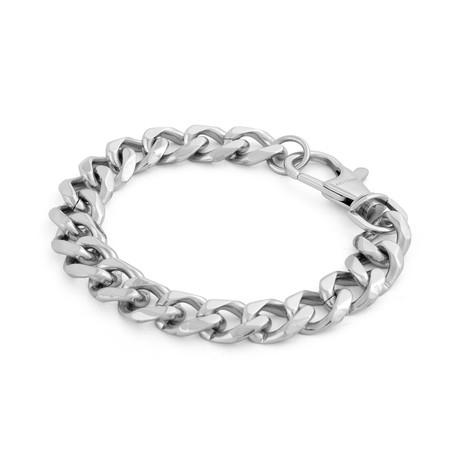 Militium Chain Link Bracelet // Silver (17cm)