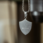 Insignia Pendant + Necklace (Antique Silver)