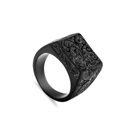 Floris Ring // Matte Black (Size 6)