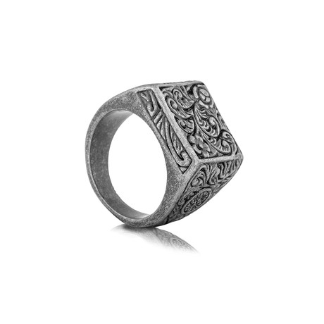 Floris Ring // Antique Silver Finish (Size 6)