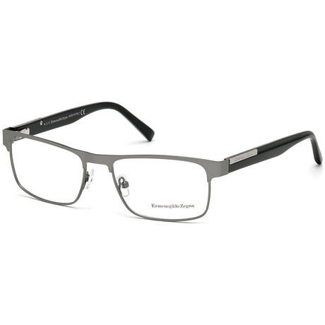 Ermenegildo Zegna // Men's EZ5031-015 Eyeglasses // Matte Light Ruthenium