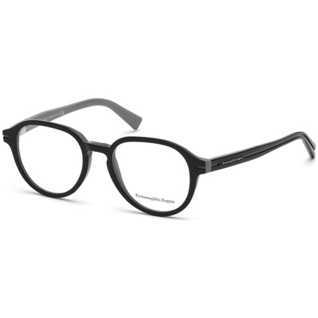 Ermenegildo Zegna // Men's EZ5043-005 Eyeglasses // Black Gray
