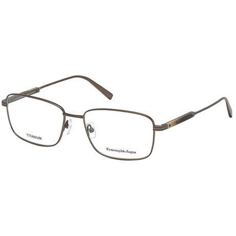 Ermenegildo Zegna // Unisex EZ5063-034 Eyeglasses // Shiny Light Bronze