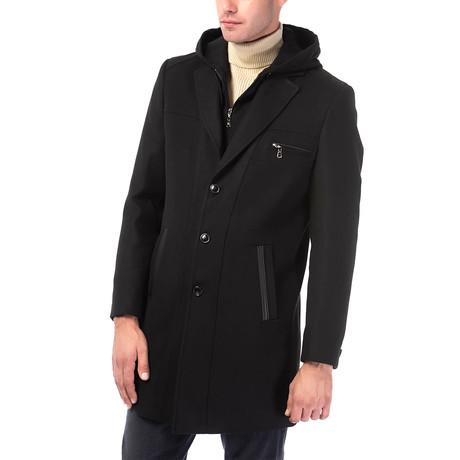 Venice Overcoat // Black (Small)