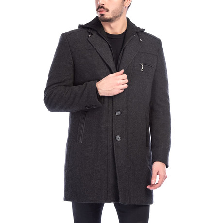 Venice Overcoat // Patterned Anthracite (Small)