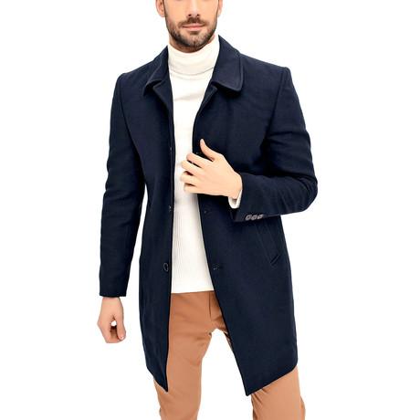 Barcelona Overcoat // Dark Blue (Small)