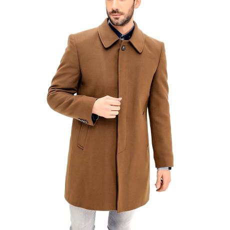 PLT8365 Overcoat // Camel (S)