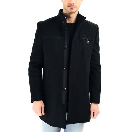 Lisbon Overcoat // Black (Small)