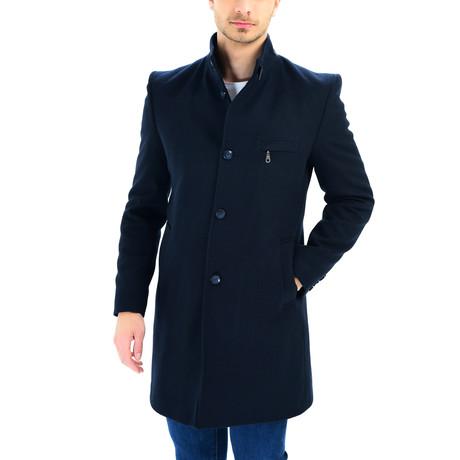 PLT8367 Overcoat // Dark Blue (S)