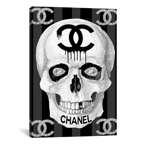 "Chanel Skull // Studio One (18""W x 26""H x 0.75""D)"